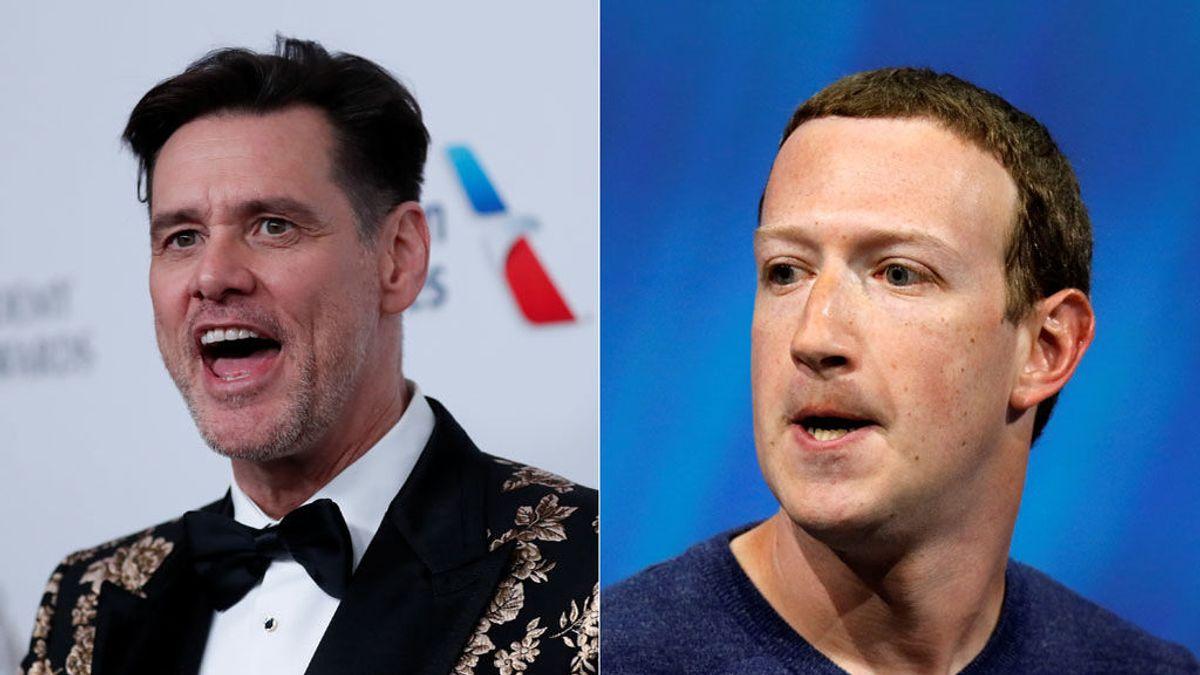 """""""Que te jodan"""": el mensaje de Jim Carrey a Mark Zuckerberg en lenguaje cifrado"""