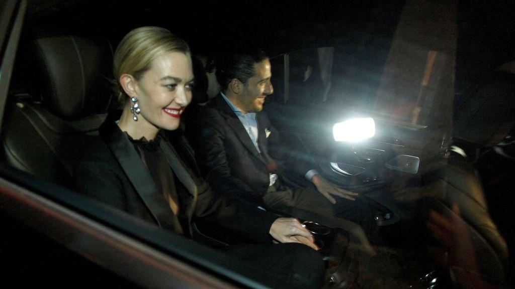 Marta Ortega y su ya marido Carlos Torretta, llegando al cóctel de su boda