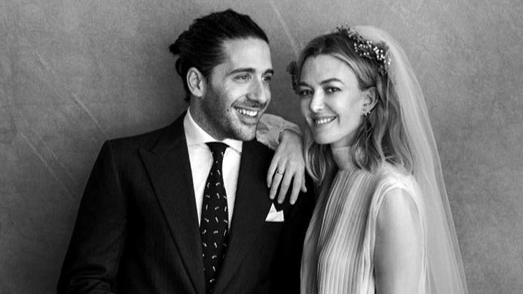 Marta Ortega y Carlos Torretta durante su boda en A Coruña