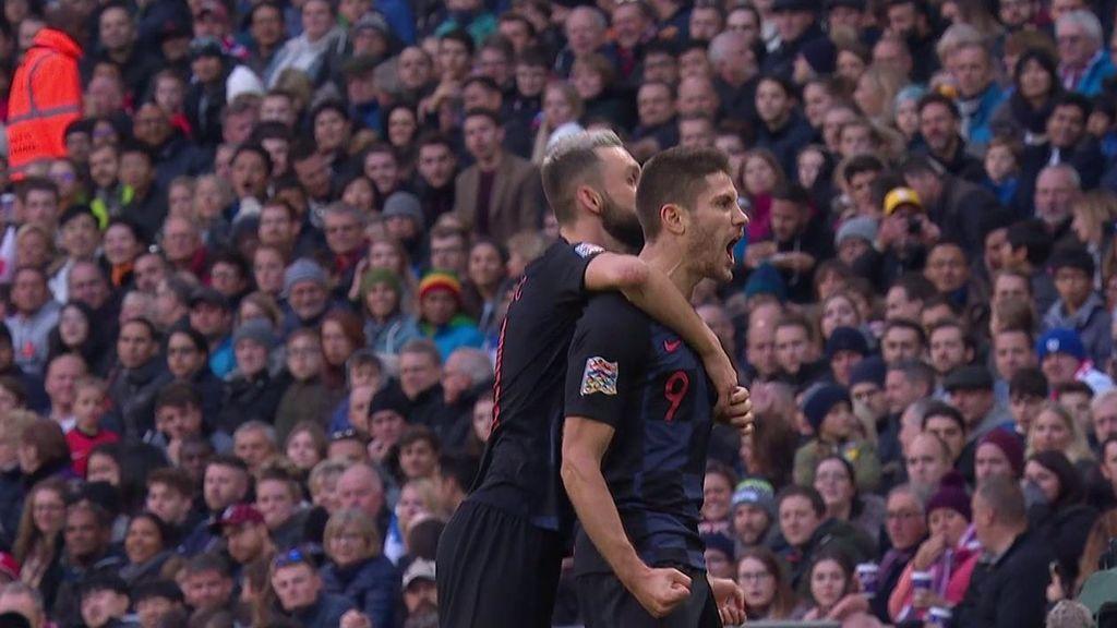 Kramaric caracolea en el área y hace un auténtico golazo ante Inglaterra (0-1)