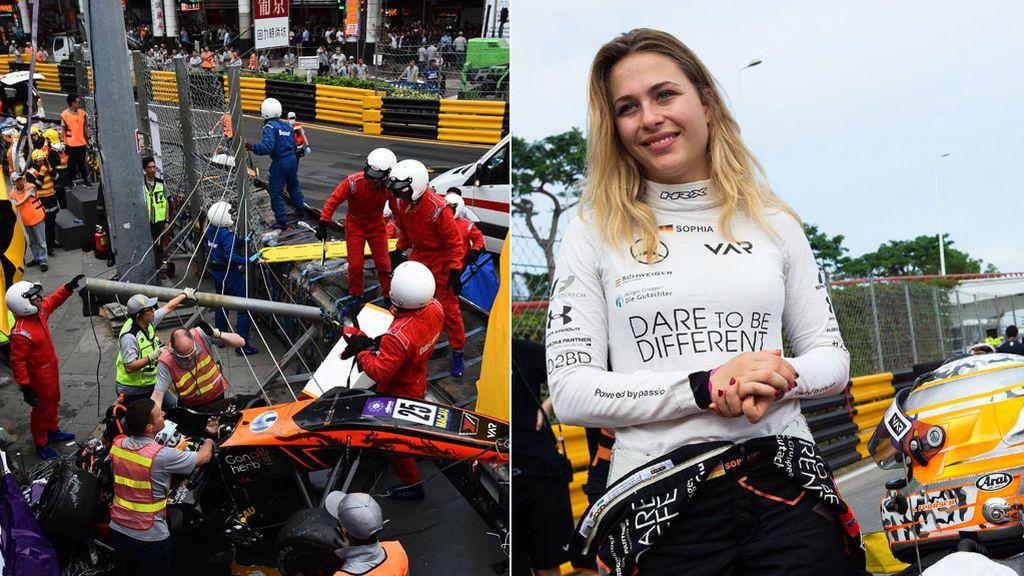 Brutal accidente: Sophia Floersch, piloto de Fórmula 3, se fractura la columna vertebral tras chocar a 250 km/h