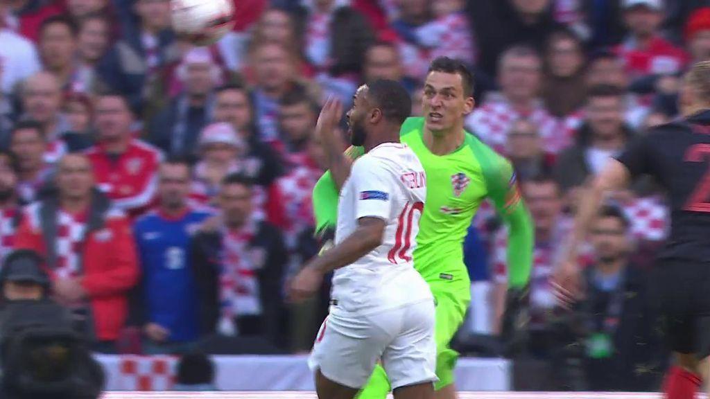 La doble ocasión de Inglaterra y que no terminó en gol tras una épica defensa de Croacia