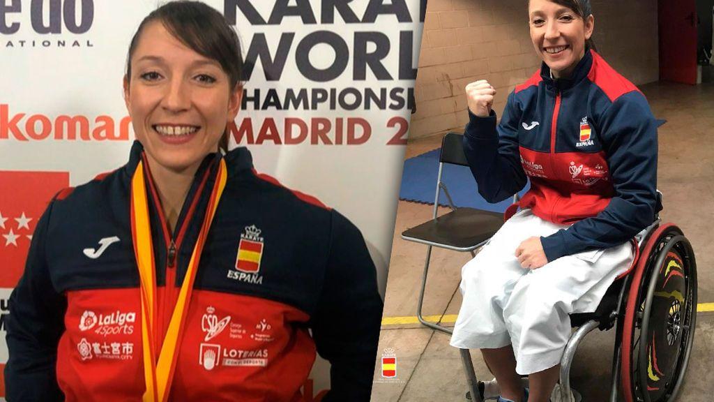 """Isabel Fernández, una campeona del mundo sin patrocinador: """"Para el europeo de para-karate espero conseguir el dinero y cambiar de silla"""""""
