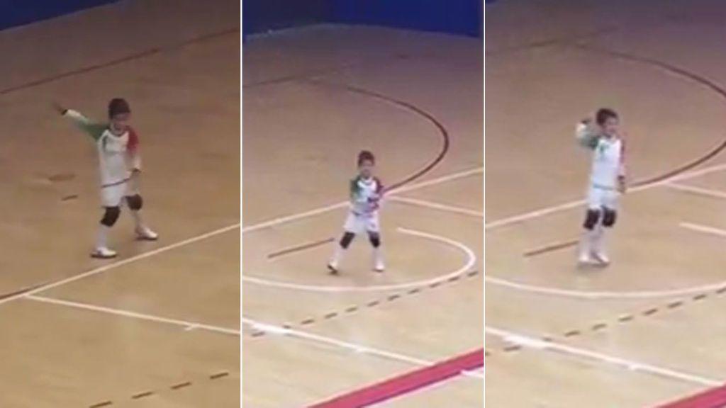 """Joaquín, de 6 años, baila Fortnite cuando se aburre en la portería: """"Estaba tan feliz que no podía parar"""""""