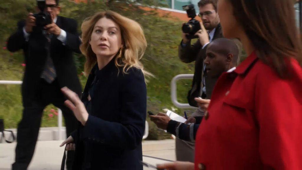 Avance exclusivo Anatomía de Grey: Meredith se enfrenta a la prensa tras estallar una crisis en el hospital