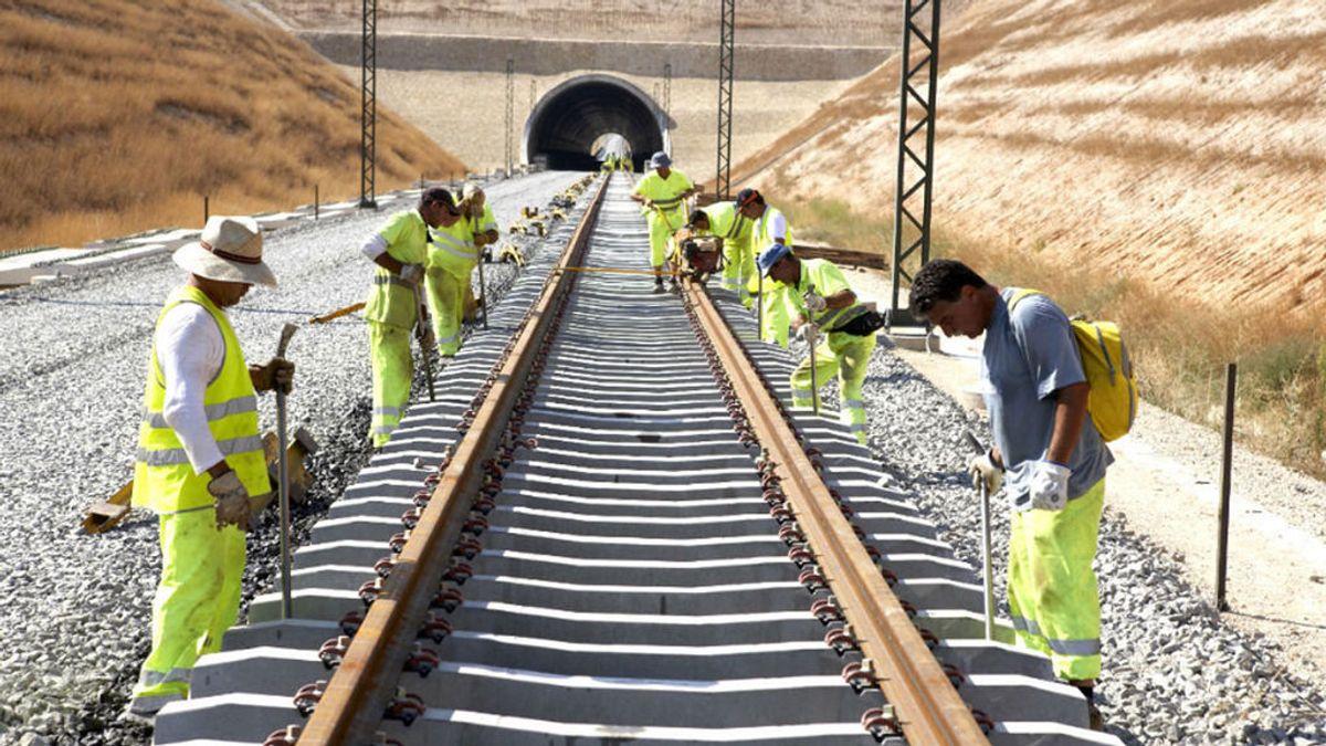 Muere un trabajador de una descarga eléctrica en la vía férrea del AVE en Valencia