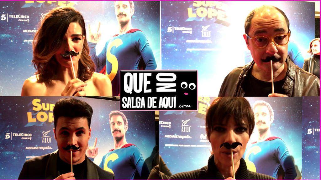 Le robamos a 'Superlópez' el poder de su bigote... y  los famosos confiesan todos sus sueños