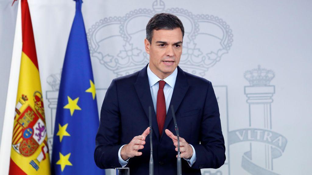 Pedro Sánchez declarando sobre el Brexit
