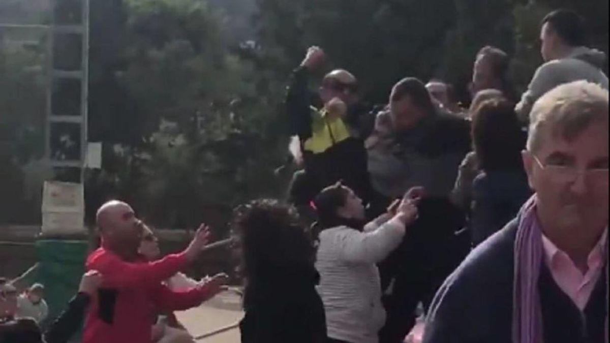 Lamentable pelea de padres en un partido de fútbol infantil en Murcia