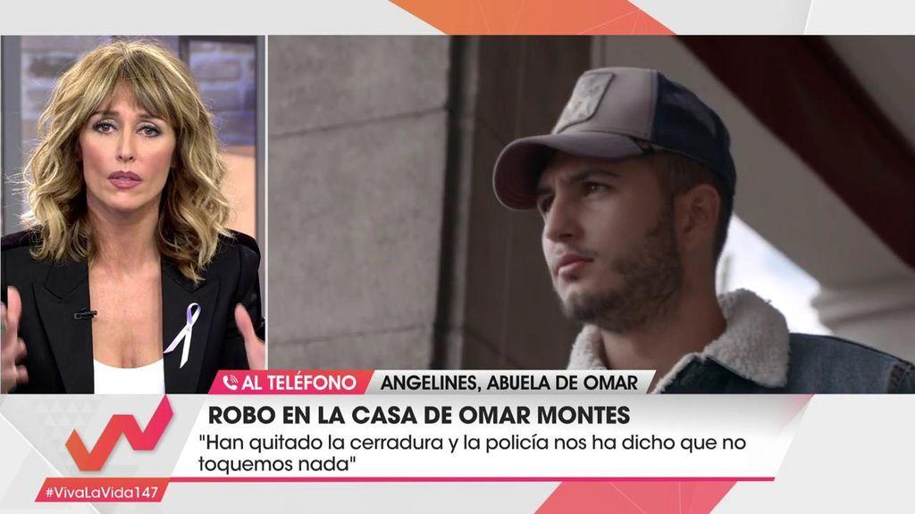 """La abuela de Omar Montes se derrumba al hablar del robo: """"Han destrozado la casa y robado la caja del dinero"""""""
