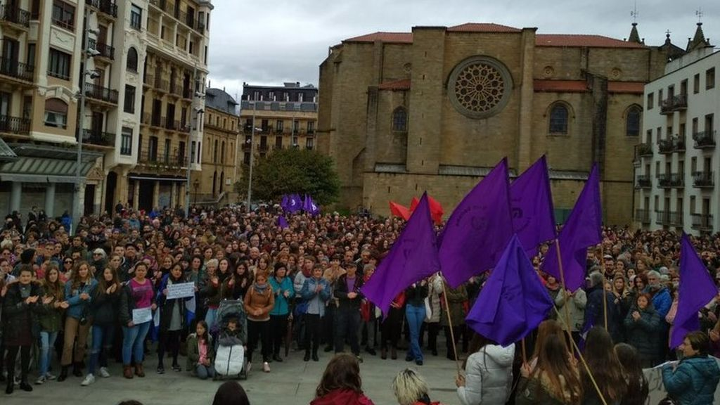 Manifestación del 25N en San Sebastián
