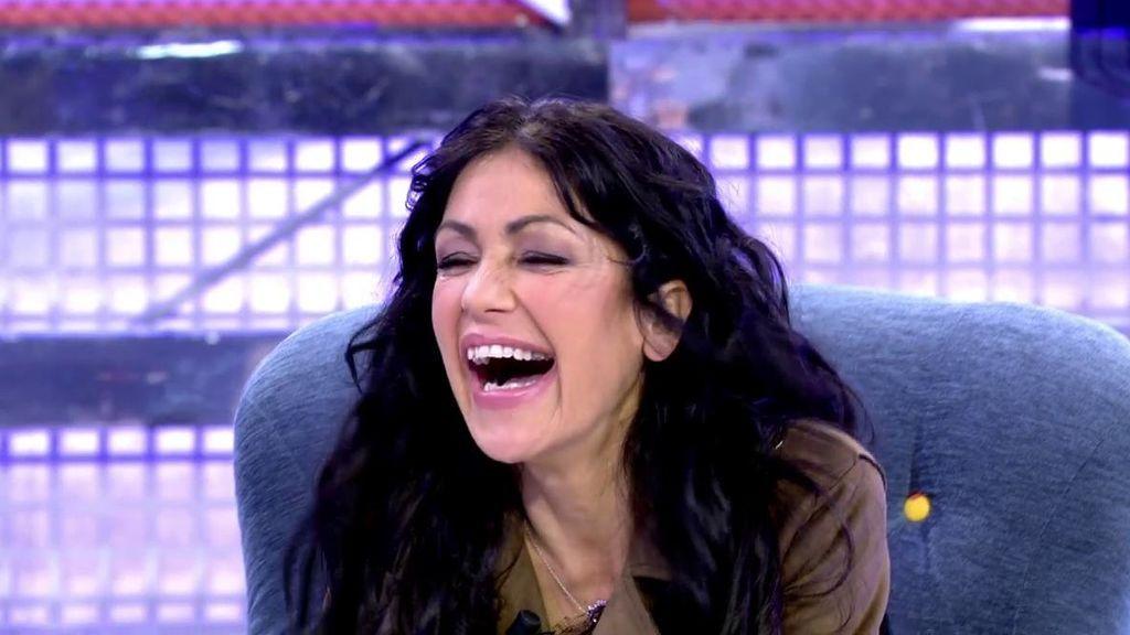 Maite Galdeano, puro espectáculo en el 'Deluxe': imitaciones, pedos y risas