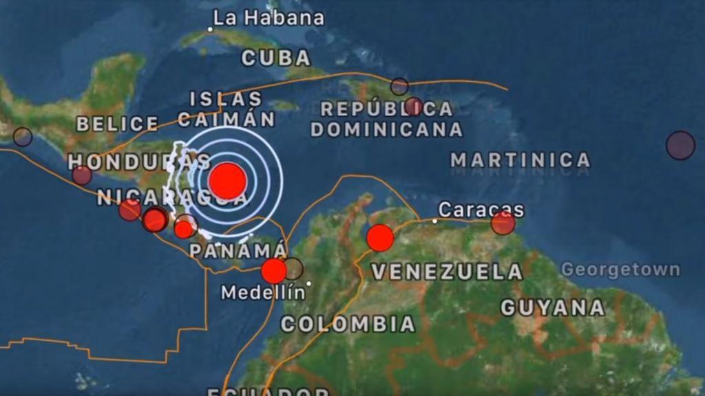 Terremoto de magnitud 6,1 en el Mar Caribe Occidental