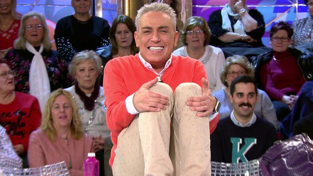 Kiko Hernández recrea el momento más flatulento de Maite Galdeano en televisión