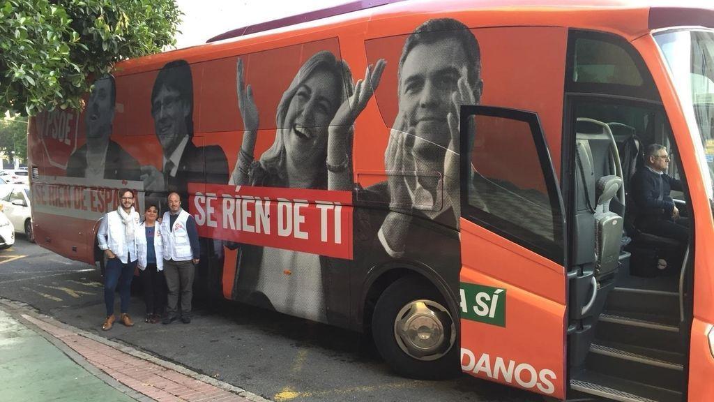 Ciudadanos vuelve a montar  un autobús con pegatinas tras criticar al de Podemos