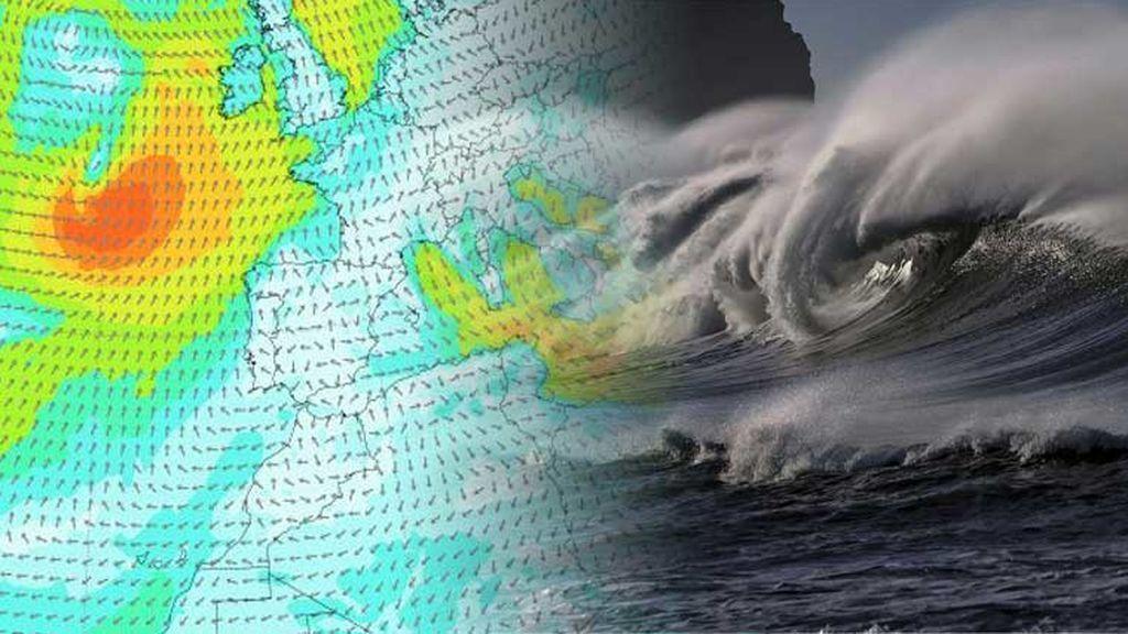Avisos por viento y olas de 12 metros en el norte: