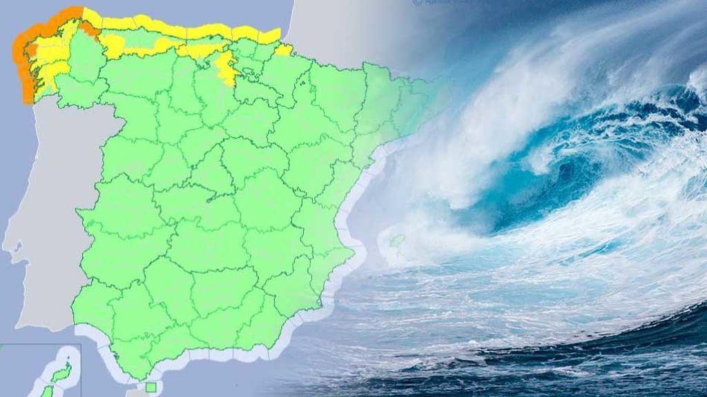Viento de 100km/h y olas de hasta 7 metros: la borrasca Diana deja avisos en el norte