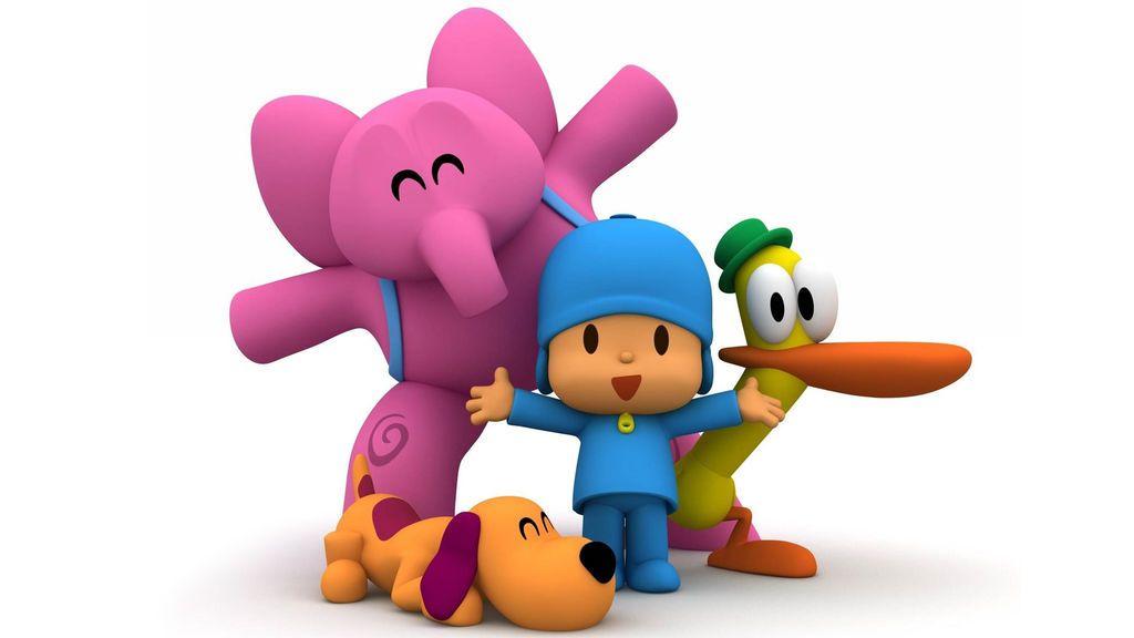 Elly, Loula, Pocoyó y Pato, personajes principales de 'Pocoyó'.