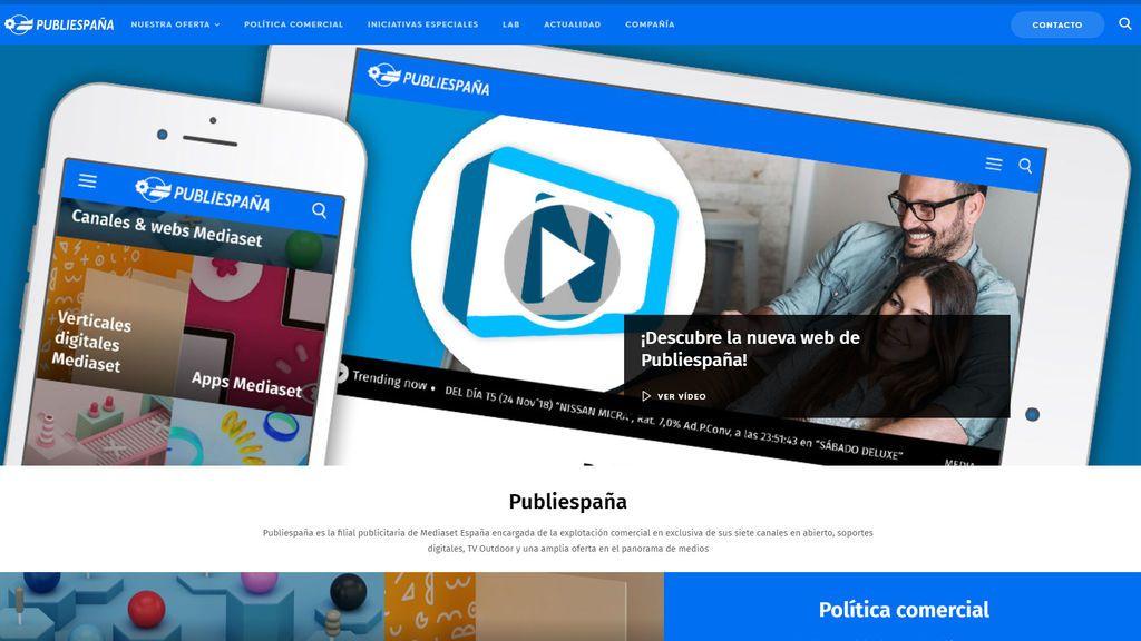 """Un diseño """"sencillo e intuitivo"""" para la web de Publiespaña"""