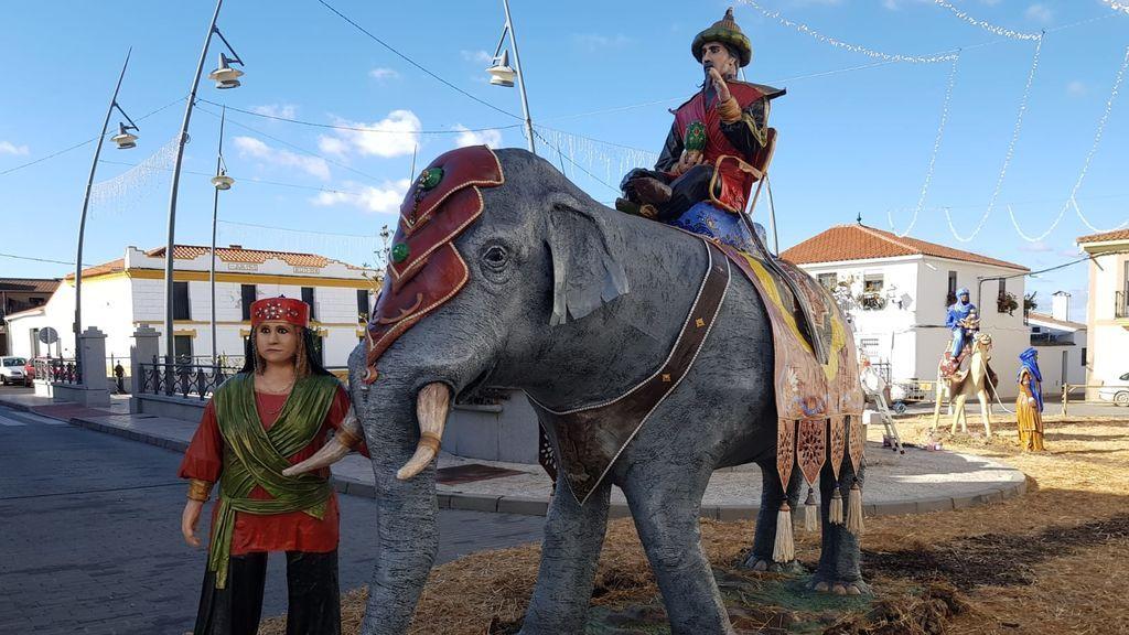 Reyes Magos, pajes y animales
