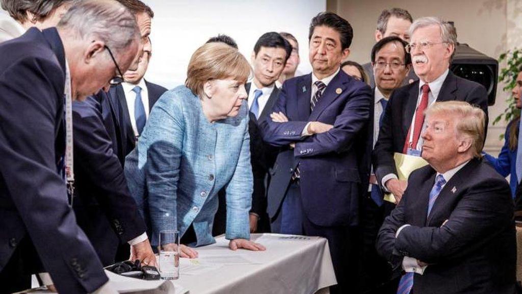 La imagen del G7: Trump contra todos