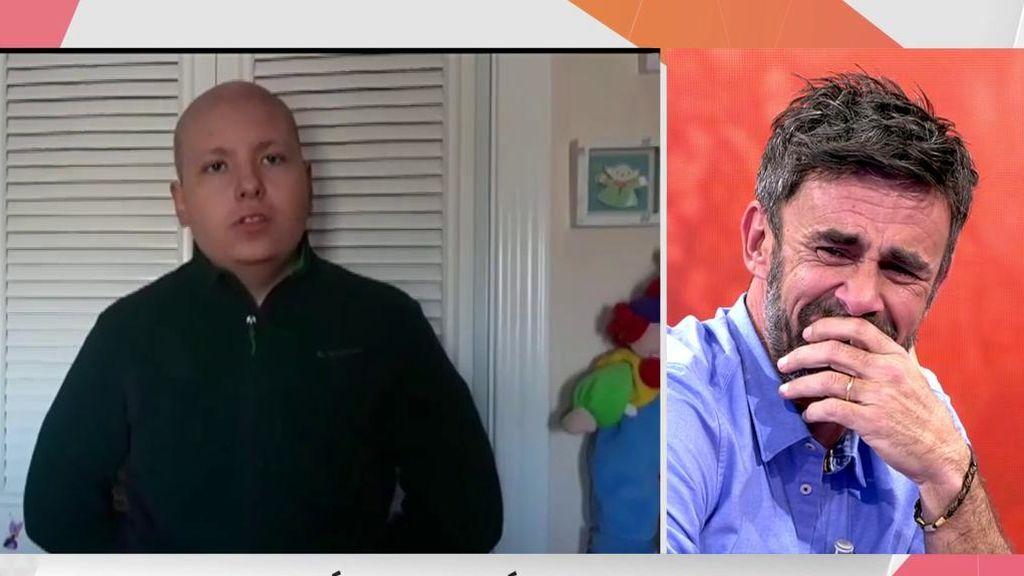 """Un chico enfermo de leucemia emociona a Alonso Caparrós: """"Gracias por quedarte conmigo en el hospital"""""""