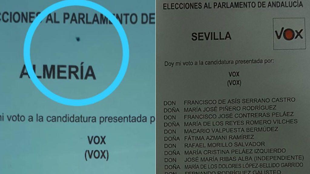 Vox se queja de que sus papeletas están siendo pintadas y marcadas para que sean votos nulos
