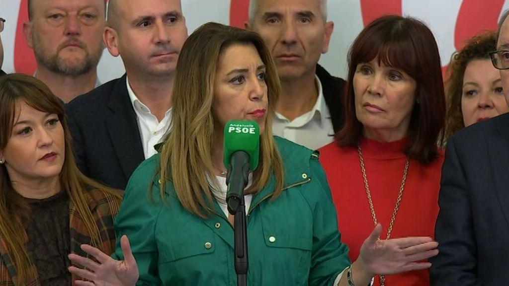 Susana Díaz pide al resto de fuerzas que no pacten con la extrema derecha