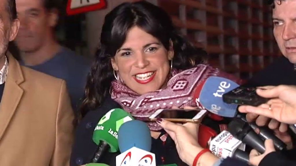 """Teresa Rodríguez, en su llegada a la sede de Adelante Andalucía: """"Tenemos buenas sensaciones"""""""