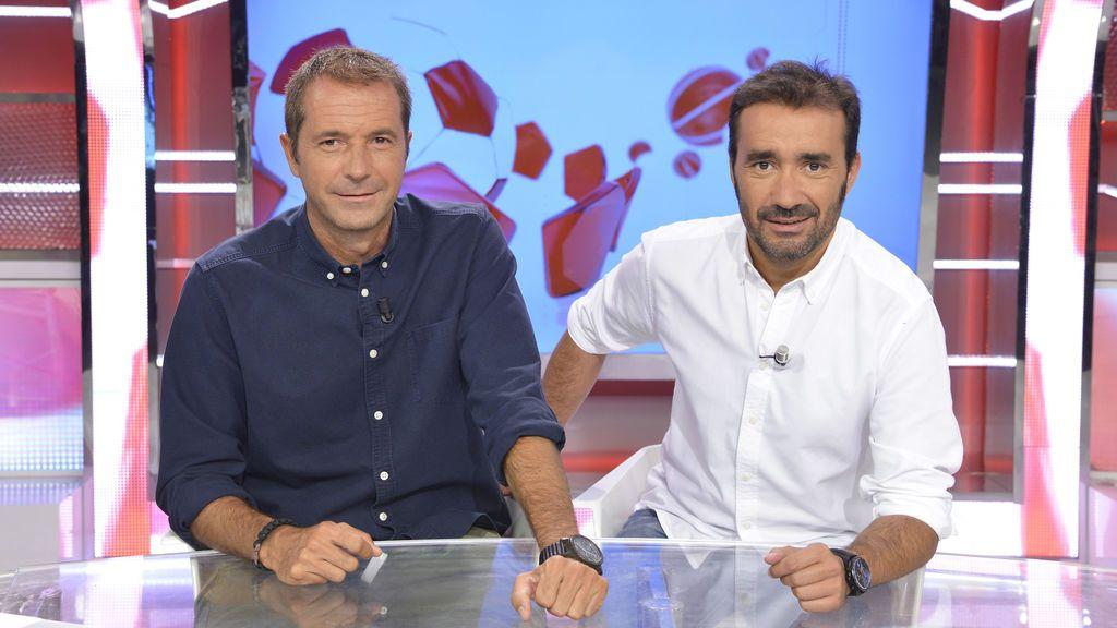 Manu Carreño y Juanma Castaño, presentadores de 'Deportes cuatro'.