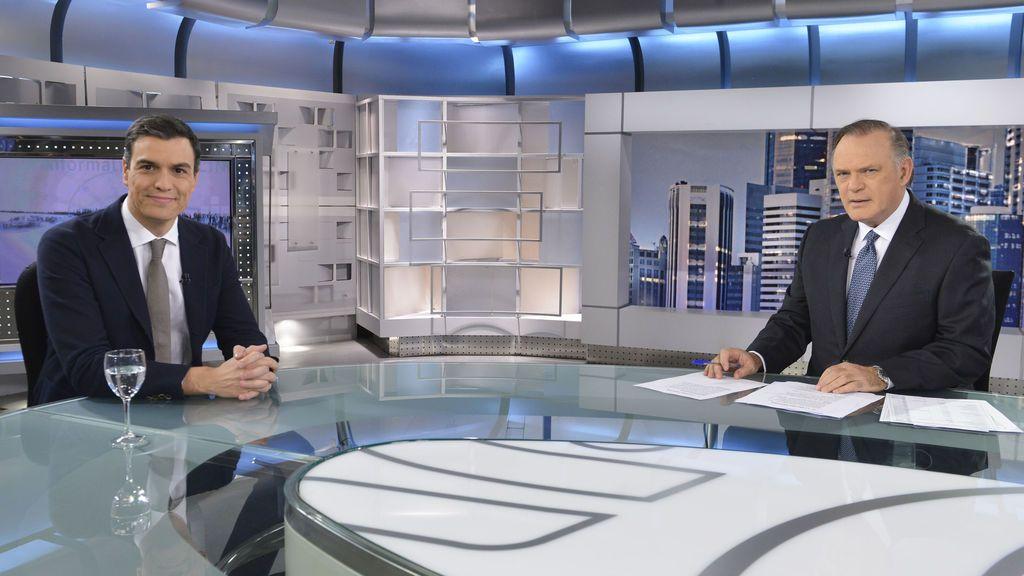 Pedro Sánchez reaparece en Informativos Telecinco tras las elecciones andaluzas