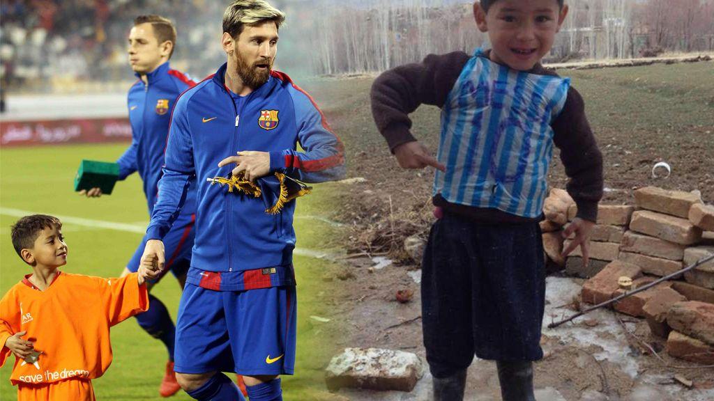 De recibir una camiseta de Messi a tener que abandonarla huyendo de la guerra: la triste realidad del niño Murtaza