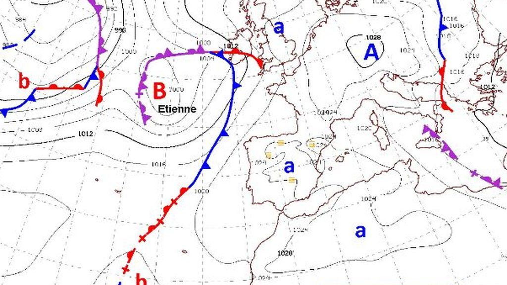 Nueva borrasca en el Atlántico: te contamos cómo afectará 'Étienne' en nuestro país