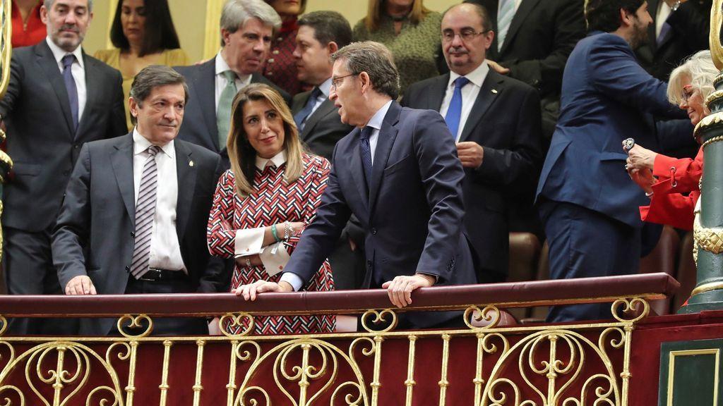 Presidentes autonómicos, en la tribuna de invitados