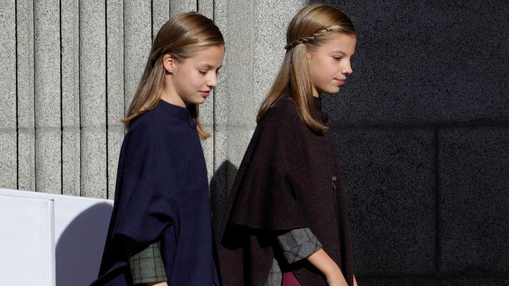 Las pricnesa Leonor y la infanta Sofía