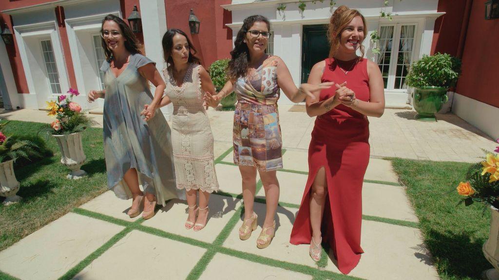 Las novias durante la resolución en 'Cuatro weddings'.