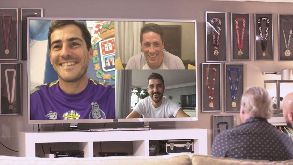 Reunión de estrellas: Casillas, Torres y Villa cuentan las mejores anécdotas con Reina