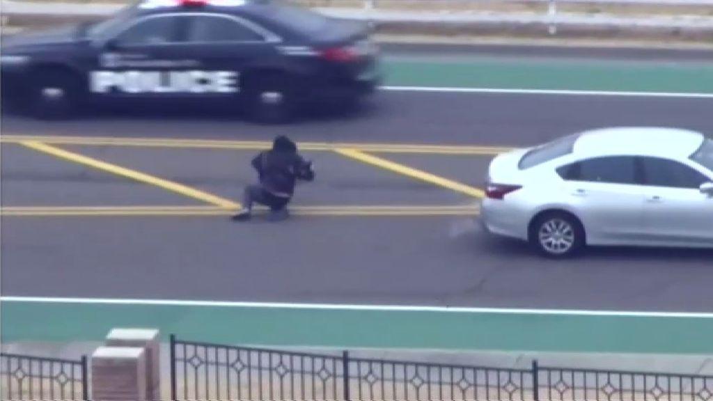 Impactante accidente tras una espectacular persecución policial en EEUU
