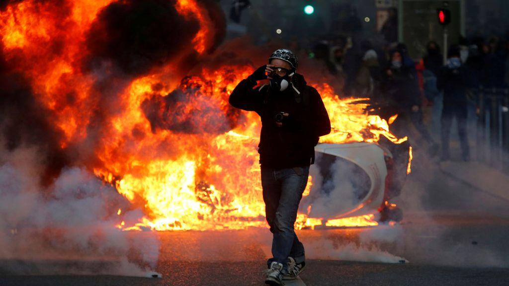 Episodios de extrema violencia en Francia durante las protestas de los 'chalecos amarillos'