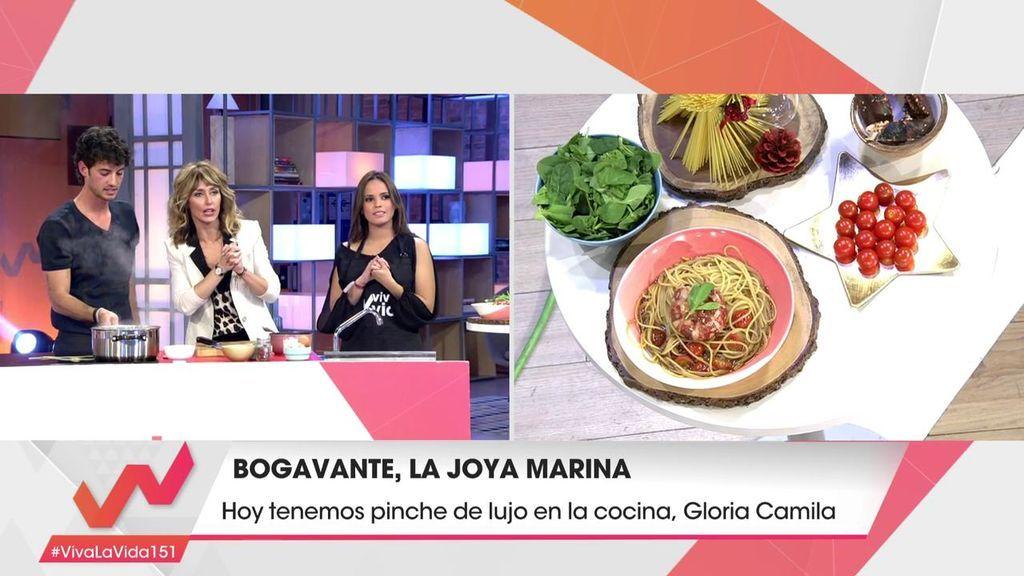 Bogavante y pasta con Jorge Brazález y Gloria Camila, su nueva pinche de lujo