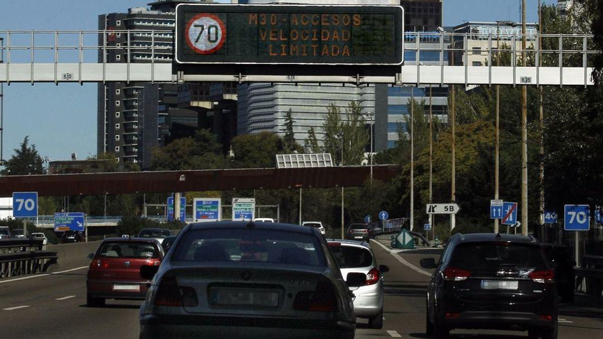 Madrid activa el escenario 1 de contaminación: velocidad máxima de 70 km/h en la M-30  y accesos