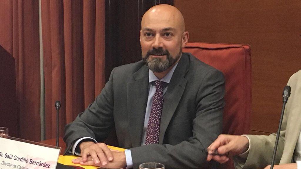 Saül Gordillo, actual director de Catalunya Ràdio, en el Parlamento.
