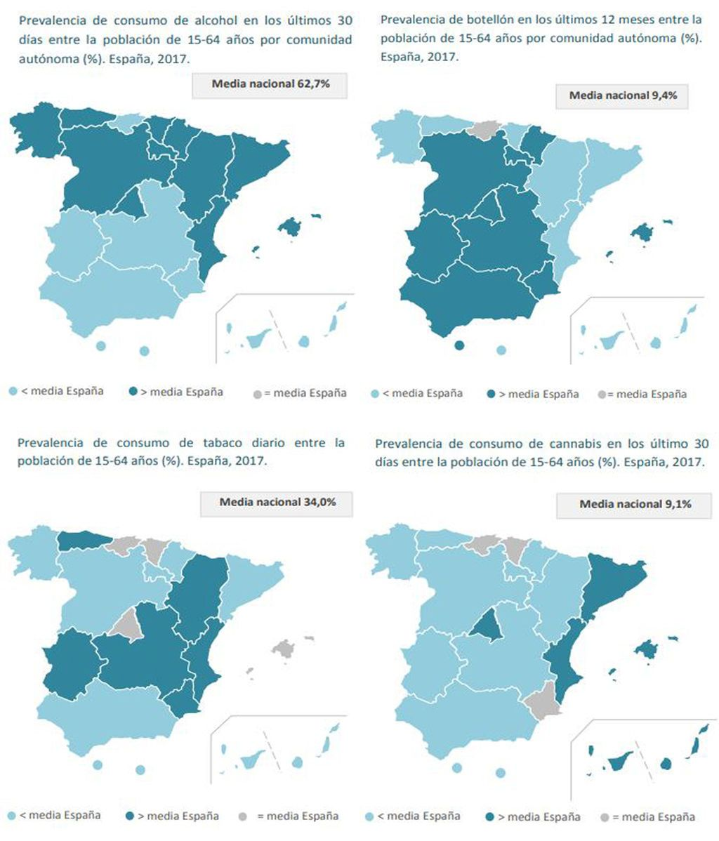 Mapa drogas España