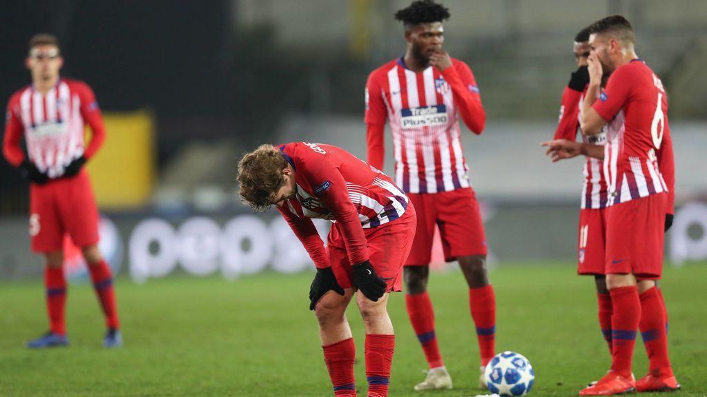 El Atlético no encuentra el gol ante el Brujas (0-0) y le regala el liderato del grupo al Dortmund