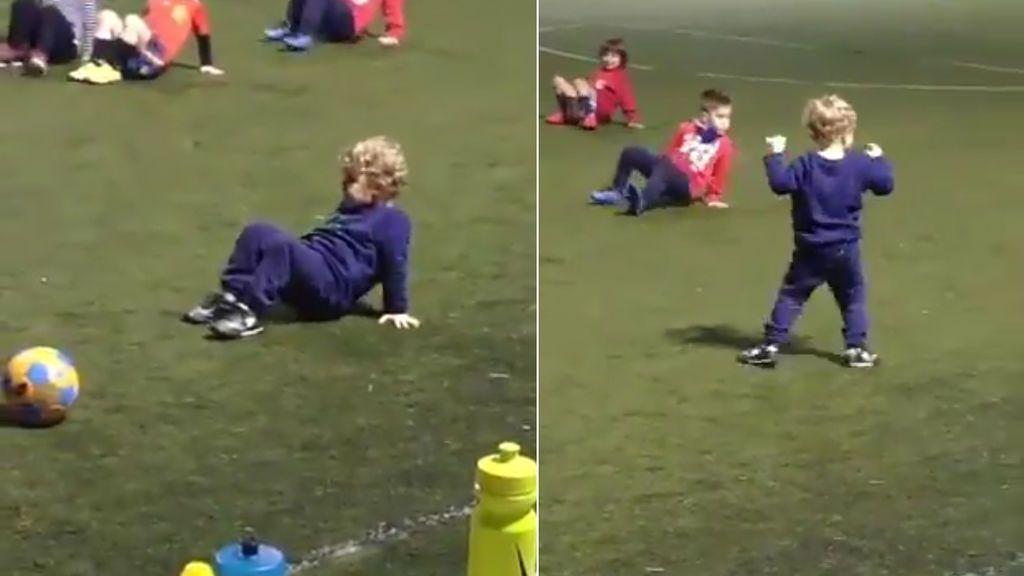 Un niño de Cartagena interpreta mal el ejercicio del 'cangrejo' en el entrenamiento y los padres mueren de amor 😍