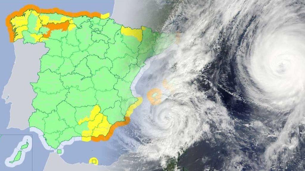 Mucha precaución: hay avisos en 28 provincias por viento, lluvia, nieve y fuerte oleaje