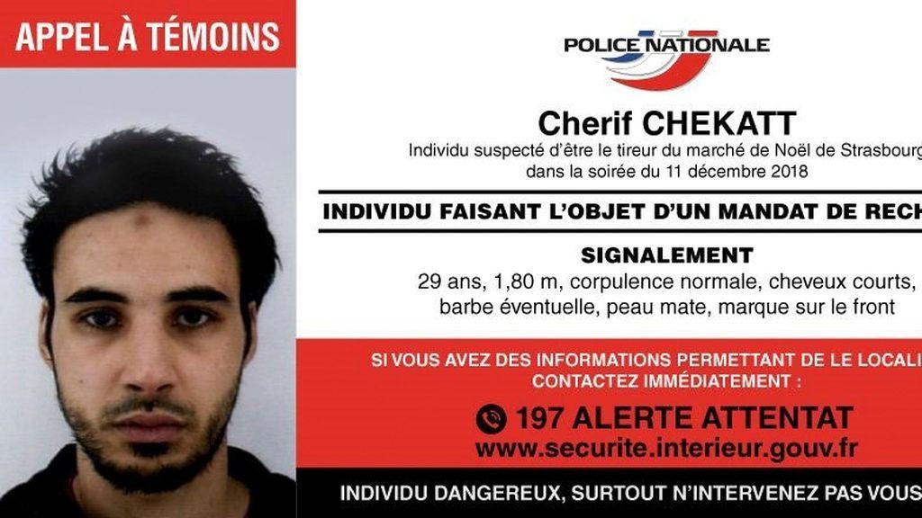 Chérif Chekatt, un delincuente común radicalizado presunto autor del tiroteo de Estrasburgo