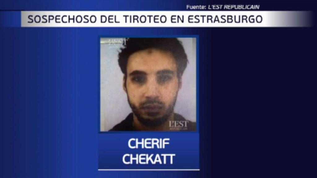Chérif Chekatt, el presunto autor del tiroteo de Estrasburgo, un delincuente común que escapó de una redada horas antes