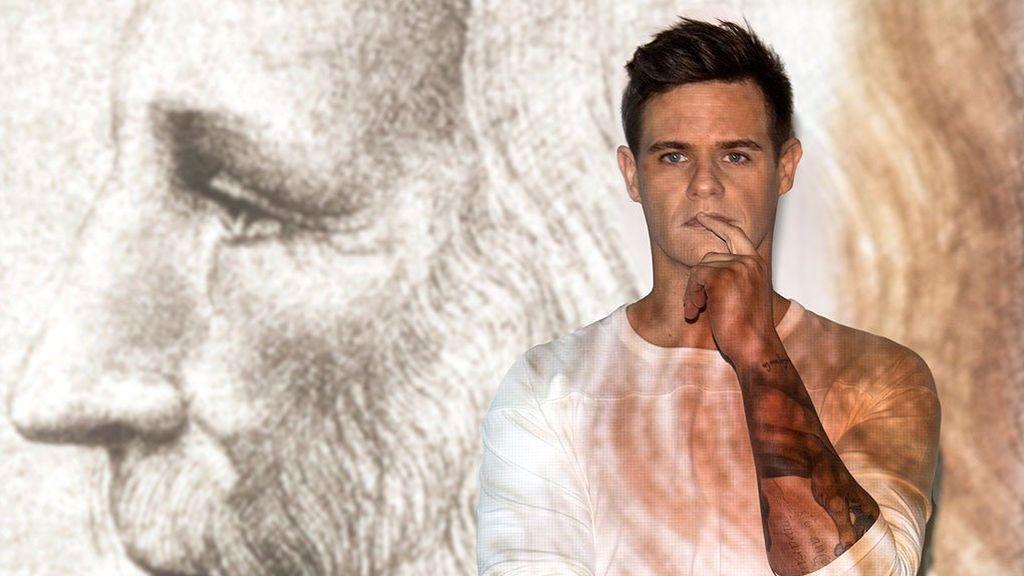 Christian Gálvez, comisario de la exposición 'Leonardo da Vinci: los rostros del genio' en el Palacio de las Alhajas.