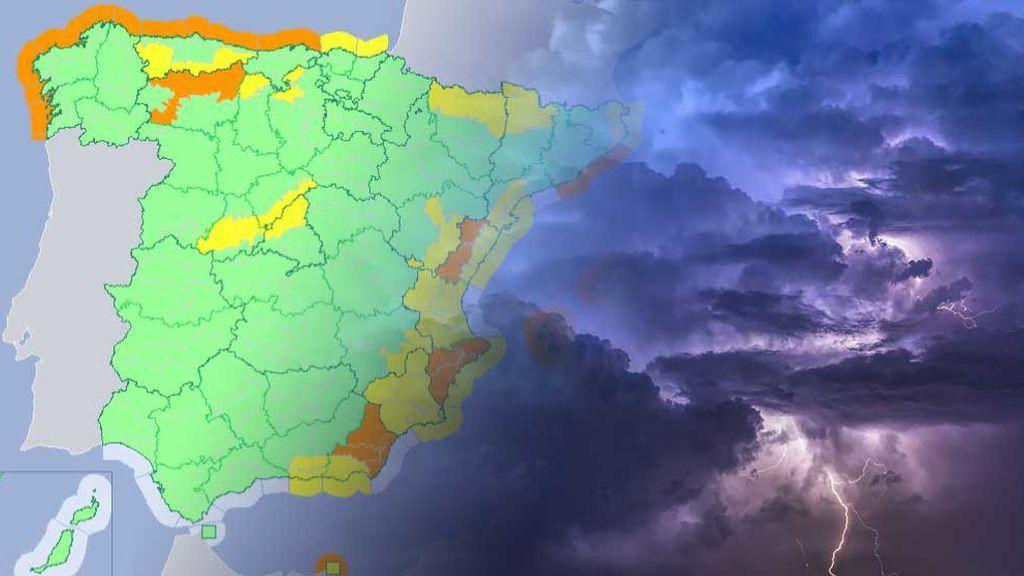 Mucha precaución: más de la mitad del país seguirá con avisos el viernes
